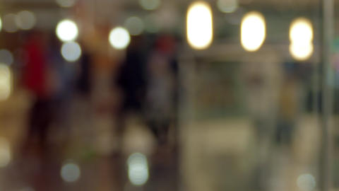 Background.Defocus Crowd In Shopping Mall.Time Lapse Footage