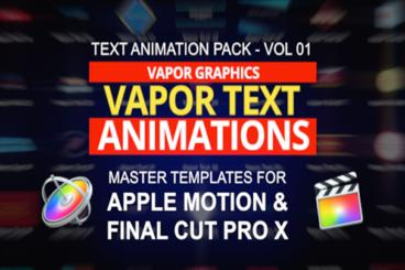 52 Text Animations For Apple Motion And Final Cut Pro X stock footage