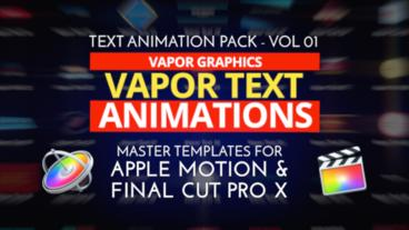 52 Text Animations for Apple Motion and Final Cut Pro X Apple Motionテンプレート