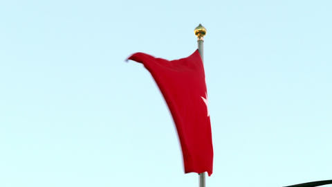 Turkish flag in the wind Footage