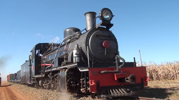 Steam Locomotive tracking Footage
