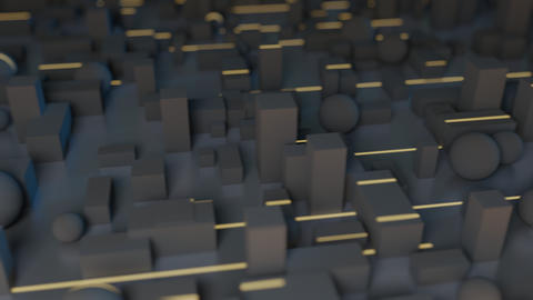 Greeble light streaks Animation