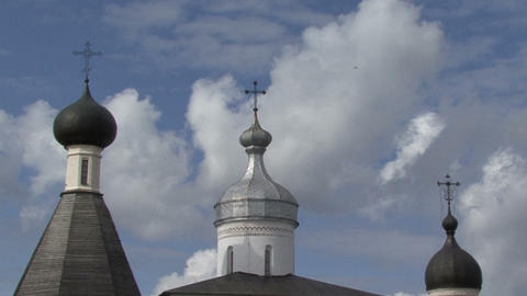 timelapse Picture to real. Church cross clouds Footage