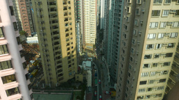 Urban city lines - HongKong towers from mid-height Footage