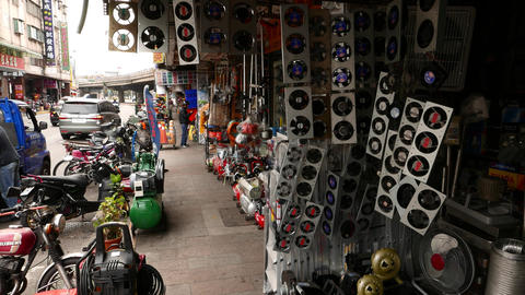 Air fan shop, production showcase, many ventilators Footage