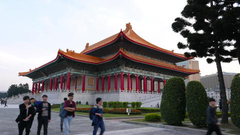National Theater building in traditional style, slide camera motion Footage