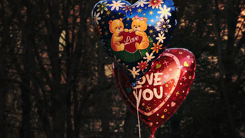 Heart-Shaped Ballons With Caption