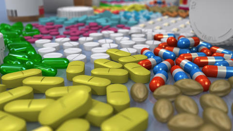 Assorted Prescription Drugs Animation