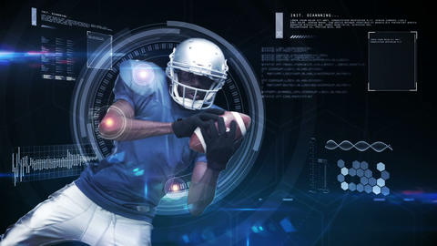 Futuristic technology tracking athletes movements Animation