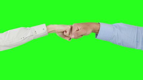 Unusual handshake Footage