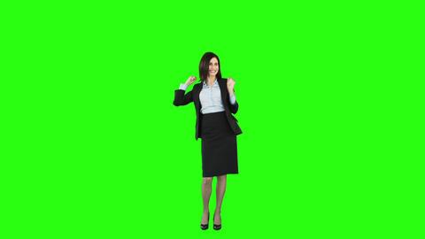 Rejoicing businesswoman Footage