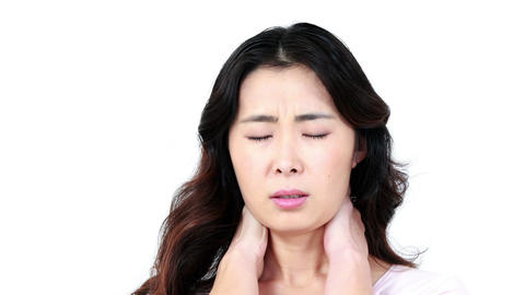 Woman with neck pain Live Action