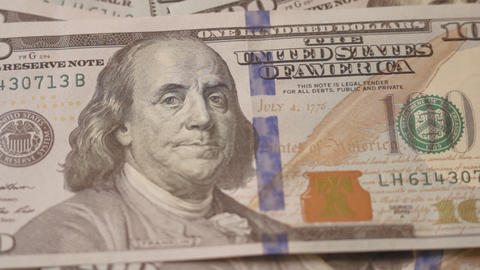 Ungraded: Counting Dollars Macro stock footage