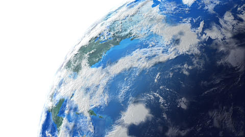 Earth W E 1n 4 K stock footage