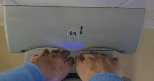 Hand dryer at work Footage