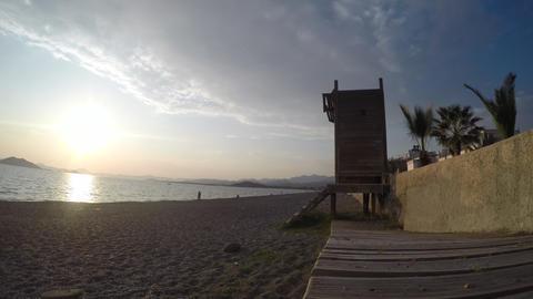 Calis Beach Sunset Footage