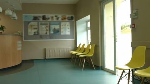 Empty vet waiting room Live Action
