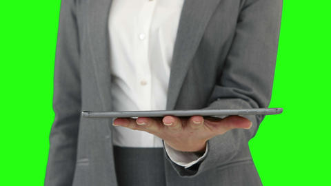 Businesswoman Using Her Digital Tablet stock footage