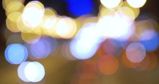 Blurred Bokeh Of Traffic On The Road Footage