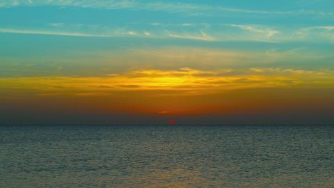 beauty landscape with sunrise over sea, 4k Footage