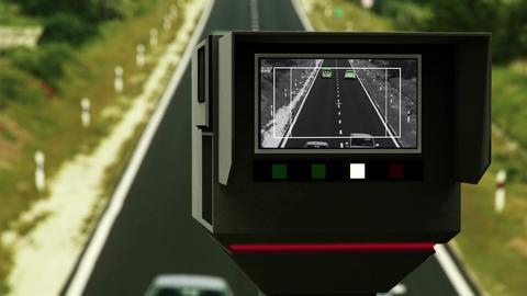 4K Vehicle Road Speed Control In Progress 1 Neutral stock footage