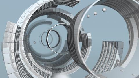 Reflective Ring Passage Animation