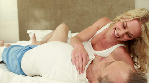 Mature couple cuddling each other Footage