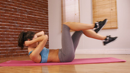 Attractive woman doing fitness exercise Footage