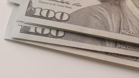 1080p Ungraded: Counting Dollars Macro Footage
