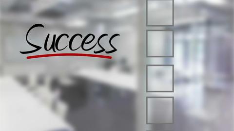 Businessman ticking success checklist Animation