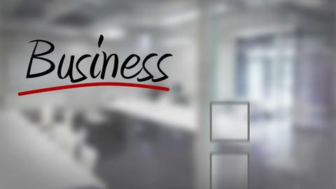 Businessman ticking business checklist Animation