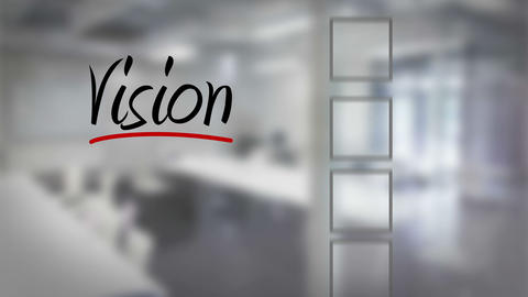 Businessman ticking vision checklist Animation
