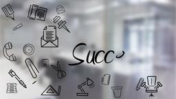 Businessman underlining success Animation
