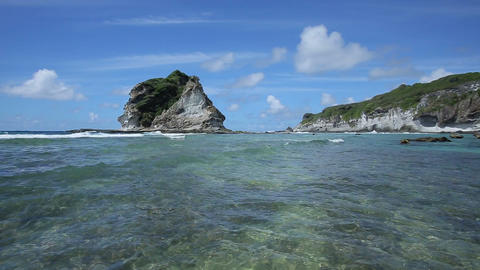 Pan Shot : Tropical Island, Beach, Saipan影片素材