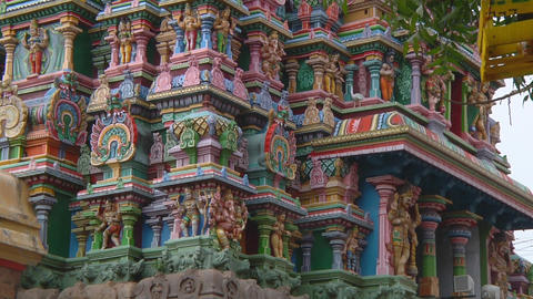 Meenakshi Temple in Mudarai, India Footage