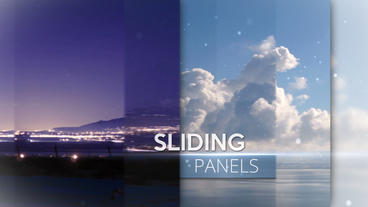 Sliding Panels - After Effects Template stock footage