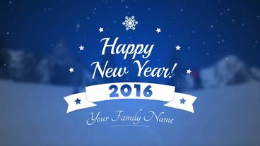 New Year Title - Apple Motion Template stock footage