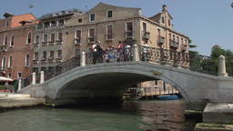 People walking over bridge of San Marco Square Footage