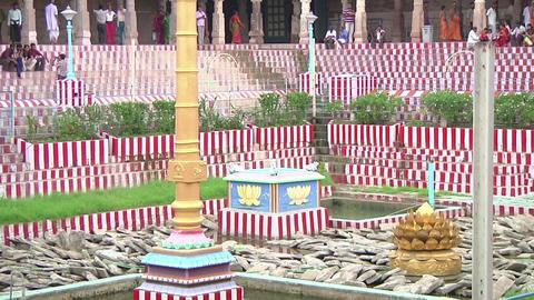 MUDARAI, INDIA – SEP 23, 2011: Meenakshi Amman Hindu Temple Footage