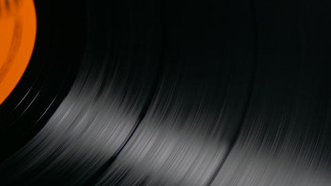 Ungraded: Vinyl Record Spinning on Turntable at 33 RPM Footage
