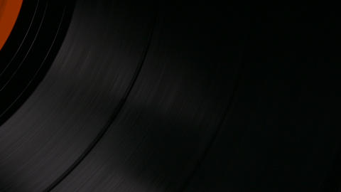 4K Ungraded: Vinyl Record Spinning on Turntable at 33 RPM Footage