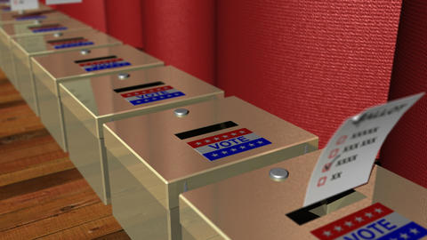 Voting Ballot Boxes Animation