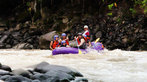 Whitewater River Rafting On Pastaza River stock footage