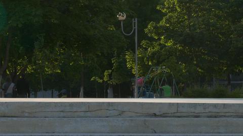 4K Ungraded: Teenagers Practicing in Skateboarding Footage