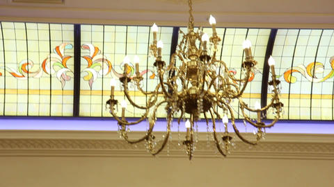 A Chandelier On New Year Party stock footage
