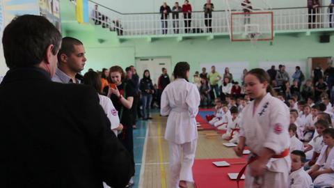 Shinkyokushinkai Karate Championship: President of federation awards winners Footage