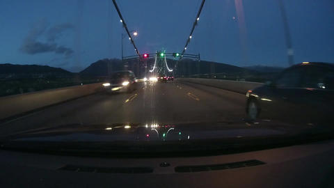 Night Driving - Vancouver Bridge Footage