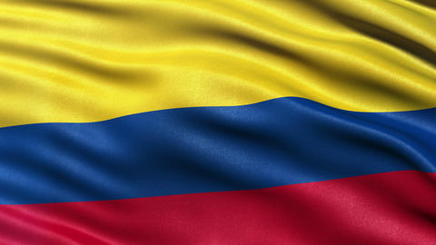 4K Colombia flag seamless loop Ultra-HD Animation