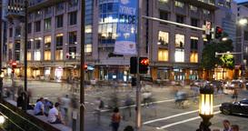 Sydney Australia establishing shot city street traffic and people time lapse Footage