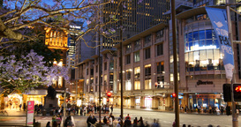 Sydney Australia establishing shot city street traffic and people time lapse Live Action